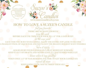 Suzee's Candles * All Natural Handmade Candles * Aromatherapy Candles, Scented Candles, Soy Candles, Beeswax Candles, Mason Jar Candles