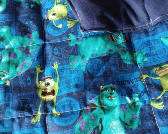 Monster Inc weighted sensory blanket ( 5 lbs ) *** FREE SHIPPING ***