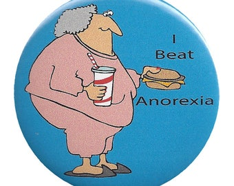 2.25 Inch Metal Pin Back, Magnetic, or Mirror Back Button. Humorous    ****1010
