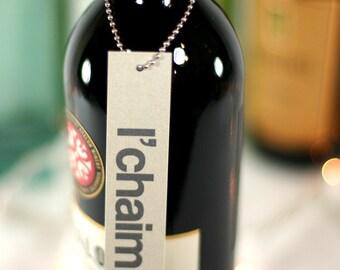 l'chaim. wine tags