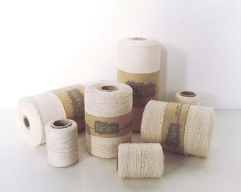 Cotton warp thread / Katoengaren / tapestry / unbleached / ongebleekt