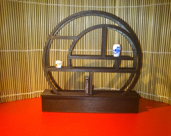 Modern oriental funiture, spiral bookcase, 1/12 miniature for dollhouses