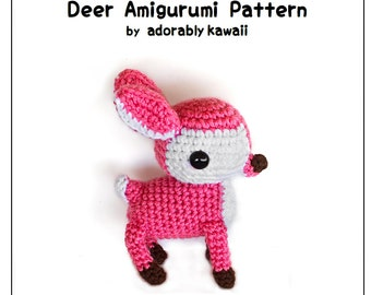 Deer Amigurumi Pattern, Crochet Fawn Plush, Deer Nursery Toy, Woodland Plush Doll, Cute Fawn Pattern, Crochet Amigurumi Pattern, Animal Doll