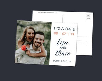 Save the Date Postcard | Save Our Date Postcard | Photo Save The Date | Wedding STD | Wedding Announcement |  Engagement Photo | SD002