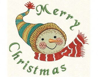 INSTANT DOWNLOAD Christmas Embroidery Design Snowy Joy Snowman CHR015