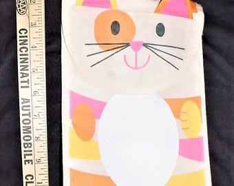 Vintage Cat Kitty Lunch Bag Insulated Box