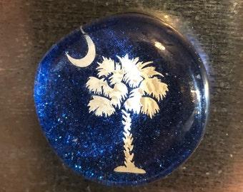 South Carolina Glass Magnet