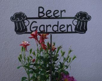 SHIP NOW - Beer Garden Sign - Metal outdoor sign