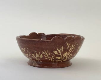 Red Floral Ring Bowl