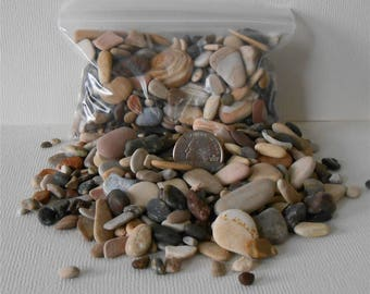 Pebble Art~Rock Art,3 to 5 Bags Flat Rate Shipping,Small Assorted Sand Stones,Pebbles, Miniature Garden,Floral Supply,,Fairy Garden,Craft
