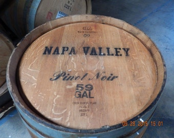 Used Wine Barrel 59 Gallons Napa Valley Pinot Noir