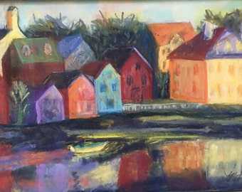 Original Painting in Frame of Portsmouth NH