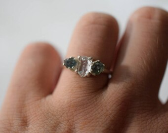 Alternative Engagement Ring Unconventional Raw Rough Diamond Ring Organic Gemstone Unique Exceptionally Delicate Engagement Size 6 Avello