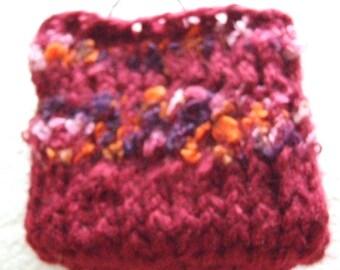 Maroon and mixed shade of reds  Mini  Knit bag