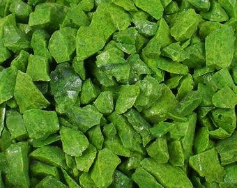 Destash Glass Frit Blend Lime Green Aventurine COE 96 Compatible 1.9 oz Bag