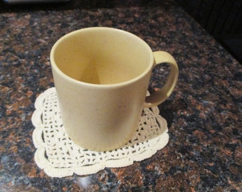 Vintage Crocheted Square Coasters - Mug Rugs - Set of Two