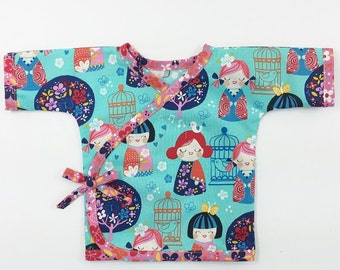 Kimono Top Sewing Pattern for Babies -- 0m - 24m PDF Instant by Whimsy Couture
