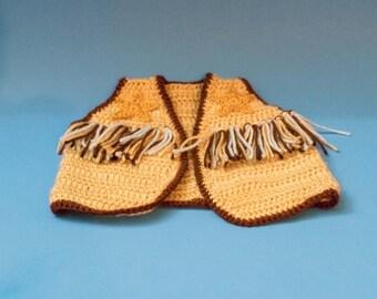 Cowboy Vest, crochet