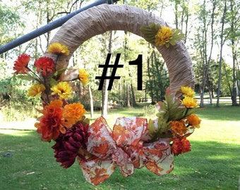 Handmade holiday wreaths