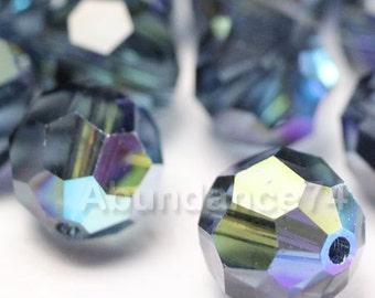 6 pcs Swarovski Elements - Swarovski Crystal Beads 5000 10mm Round Ball Beads - Montana AB