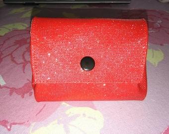 Coin Swarovski leatherette glitter red door