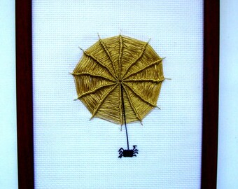 Cross stitch Spider Picture, Wall décor, Décor nursery, Gift for children