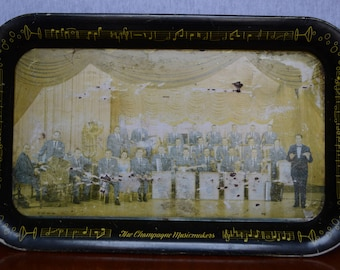 Lawrence Welk The Champagne Music Makers Rectangular Serving Tray