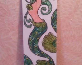 Bookmark - green Mermaid