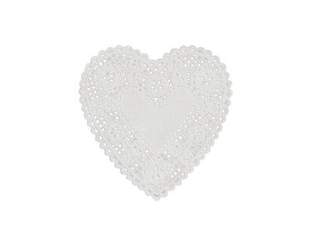Paper Doilies  - Heart Shape - Gift Wrap - Craft and Party Supplies