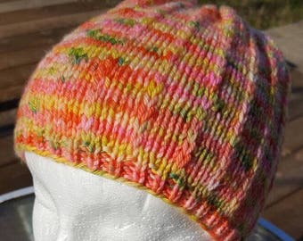 Bright, cheery Beanie. Great for adults or kids!