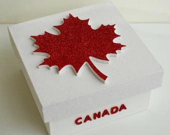 """Secret """"Canada"""" wooden box"""