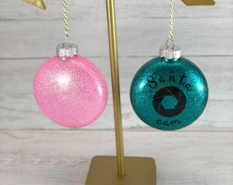 Large glittered ornament