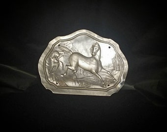 Carved Mother of Pearl Western Belt Buckle