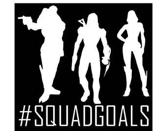 Mass Effect - Squad Goals Decal - Available for car, laptop, phone, coffee mug, contigo mug