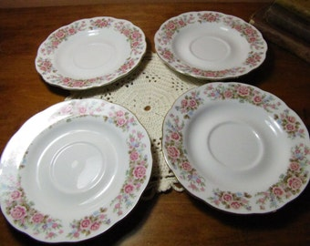 Set of  Four (4) Remington Fine China Rea Sea Saucers