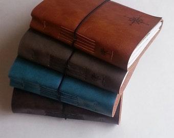 travel journal variety set of 12 compass explorer journals, handmade with maps - tremundo