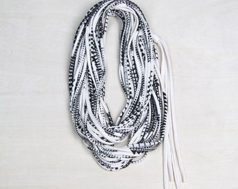 Statement Necklace, Infinity Scarf, Statement Jewelry, Travel Gift, Scarves for Women, Scarf Women, Travel Accessories, Fabric Jewelry