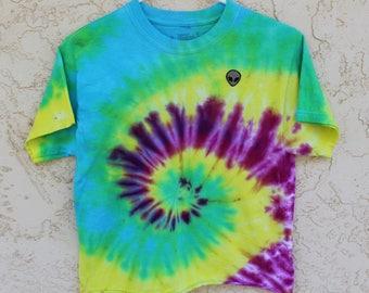 Alien Tie Dye Cropped T-Shirt