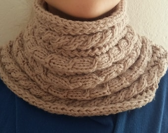 Scarf-handmade knitted winter scarf tube,