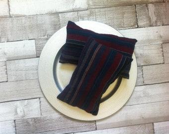 Mini Posing Pillow Burgundy/Navy Stripe-Newborn Props -  Photography Prop - Posing Pillow