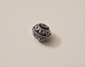 8mm Sterling Silver bali beads 1pcs