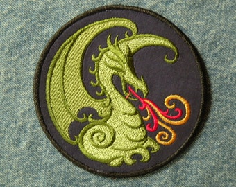 """Fire Breathing Dragon Iron on Patch 4.5"""""""