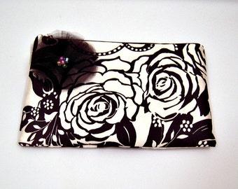 Schwarz und weiß-Kupplung mit Blume