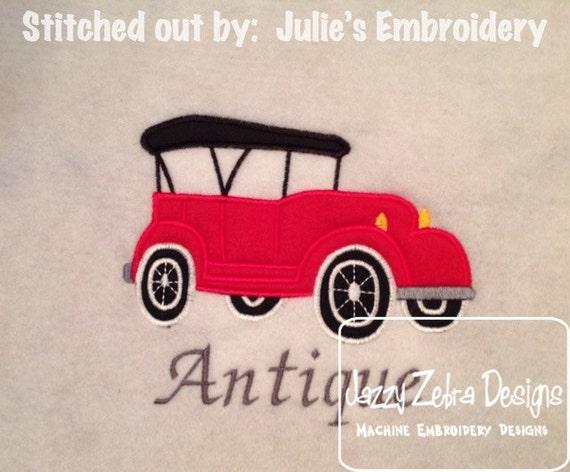 Antique Car Applique embroidery Design - car Applique Design - antique car Applique Design