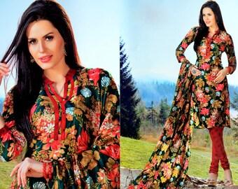 Readymade indian Cotton Printed Salwar Kameez Pakistani Suit