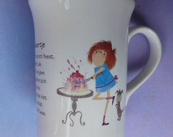 Floddertje Mug, cup, Annie M. G Schmidt & Fiep West Village, DE, Made in England, Staffordshire Tableware