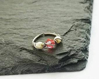 Helix Ring Hoop - Hypoallergenic Septum Ring - Forward Helix Earring - Tragus Hoop - Nose Ring Hoop - Cartilage Earring
