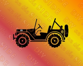 SVG Cut File Jeep Side ViewInstant Download