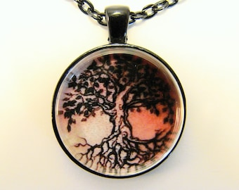 SKIN ART Necklace -- Tree of Life Tattoo, Traditional tattoo, Graphic art, Symbol of life, harmony and unity
