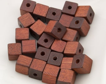 Vintage Natural Wood Cube Beads 7mm 25pcs for Jewelry and Crafts 10208003